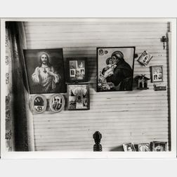 Walker Evans (American, 1903-1975)       Bedroom, Shrimp Fisherman's House, Biloxi, Mississippi