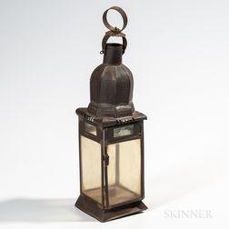 Tin and Glass Lantern