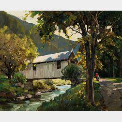 Anthony Thieme (American, 1888-1954)      Covered Bridge, Jeffersonville, Vermont