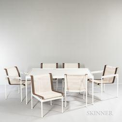 Eleven-piece Richard Schultz (American, b. 1926) for Knoll Associates 1966 Patio Furniture Suite