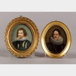 Two Portrait Miniatures of Gentlemen