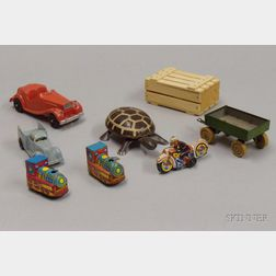 Miscellaneous Group of Cast Metal, Iron and Tin Toys