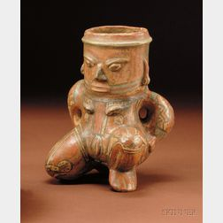 Pre-Columbian Polychrome Female Figure