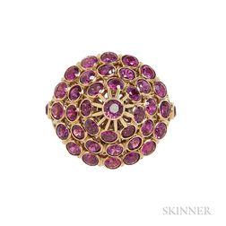 18kt Rose Gold Gem-set Ring
