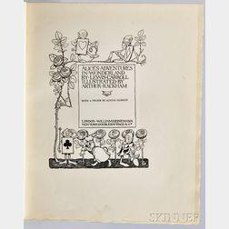 Dodgson, Charles Lutwidge [aka] Lewis Carroll (1832-1898) Alices Adventures in Wonderland, Illustrated by Arthur Rackham (1867-1939).