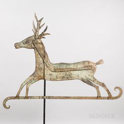 Sheet Iron Prancing Reindeer Weathervane