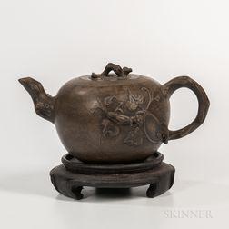 Gray Yixing Teapot