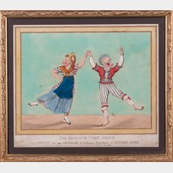 Clowns, Harlequins, Commedia dell'Arte, and Joseph Grimaldi (1778-1837) Nine Framed Items.