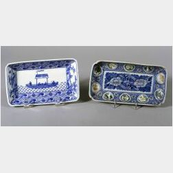 Two Chinese Export Porcelain Trays
