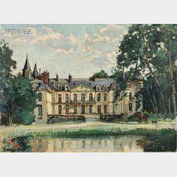 Constantine Kluge (French, 1912-2003)      Château d'Ermenonville