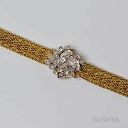 Satsky 14kt Gold and Diamond Covered Lady's Wristwatch