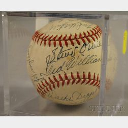 1951 Boston Red Sox Autographed Baseball