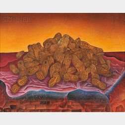 Jose Luis Romo (Mexican, b. 1953)      Cacahuates   (Peanuts), A Double-Sided Work