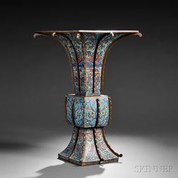 Large Cloisonne Gu   Vase