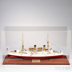 U.S.S. Olympia   C-6 Ship's Model by John D. Ficklen III
