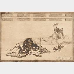 Francisco José de Goya y Lucientes (Spanish, 1746-1828)      Echan Perros al Toro