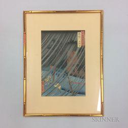 Utagawa Hiroshige (1797-1858), Yamabushi Valley, Mimasaka Province