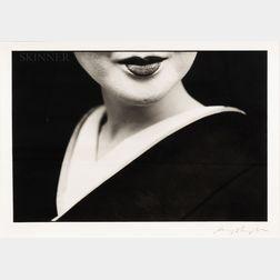 American/Japanese School, 20th Century      Portrait of a Geisha