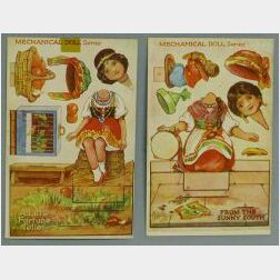 Two Tuck Mechanical Doll Series Post Cards