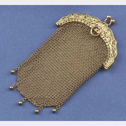 Antique 18kt Gold Mesh Purse, France