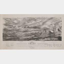 Jonathan Badger Bachelder, delineator (New Hampshire, 1825-1894) GETTYSBURG BATTLE-FIELD. Battle fought at Gettysburg, Pa., July 1st, 2