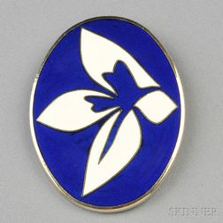 Artist-designed Enamel Brooch, Jack Youngerman