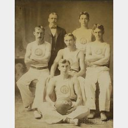 Oak-framed 1900 Basketball Team Photograph