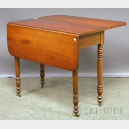Classical Cherry Drop-leaf Table with Rope-turned Legs.