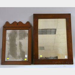 Two 19th Century Mahogany Mirrors