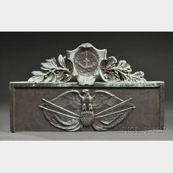 Cast Bronze Patriotic Eagle and Shield Architectural Overdoor Lintel