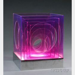 Cube-form Table Lamp