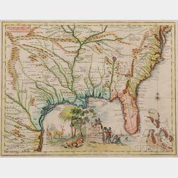North America, Southeastern United States. Giambattista Albrizzi (1698-1777) Carta Geografica Della Florida nellAmerica Settentrionale