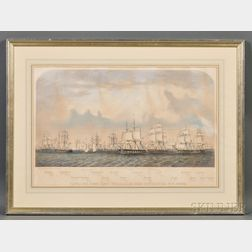 After Benjamin Russell (American, 1804-1885),      View of the Stone Fleet Which Sailed From New Bedford Nov. 16th 1861