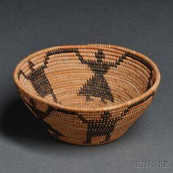 """Small Yokuts """"Friendship"""" Basket"""