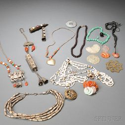Group of Ornaments and Necklaces