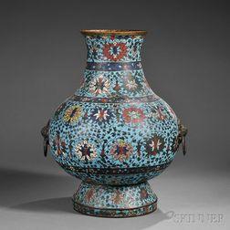 Large Cloisonne Hu   Vase