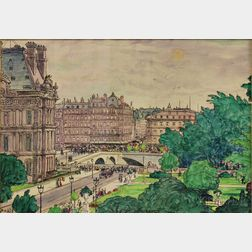 Middleton Manigault (Canadian, 1887-1922)    View of Paris
