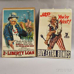 Two Uncle Sam Lithograph Posters