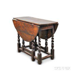 William and Mary Oak Barleytwist Gate-leg Table