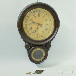 "Lovell Manufacturing Co. ""Meridian"" Calendar Clock"