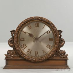 Large Bronze Gallery Clock