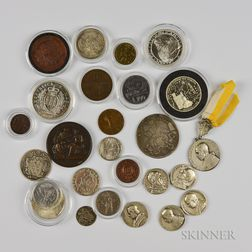 Small Group of Papal and San Marino Coins and Medals