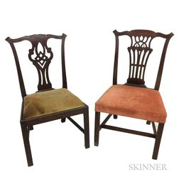 Two Georgian Mahogany Side Chairs