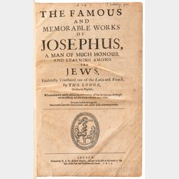 Josephus, Flavius (d. circa 100 CE) trans. Thomas Lodge (1558-1625) The Famous and Memorable Works of Josephus, a Man of Much Honour an