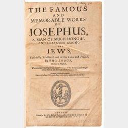 Josephus, Flavius (d. circa 100 CE) trans. Thomas Lodge (1558-1625) The Famous and Memorable Works of Josephus, a Man of Much Honour an