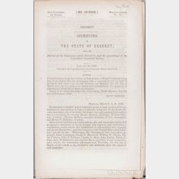 Utah, LDS [Mormon] Church, the State of Deseret, Three Congressional Publications, 1849-1858.
