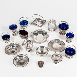 Group of Sterling Silver Baskets and Tableware