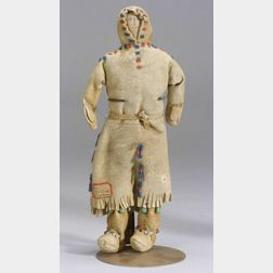 Athabascan Beaded Hide Doll