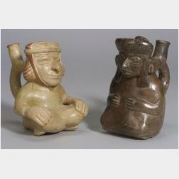 Two Pre-Columbian Figural Vessels