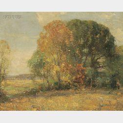 Walter Granville-Smith (American, 1870-1938)      Autumn Landscape